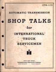 International Truck Shop Talks Automatic Transmission 1954 original vintage manual CTS-1173 IH International Harvester