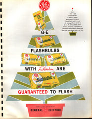 General Electric GE Flashbulbs Christmas tree 1963 original vintage catalog pages brochure ad
