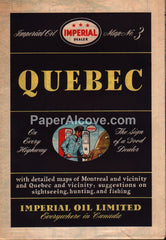 Imperial Oil Quebec Canada vintage old 1947 map gas oil service station