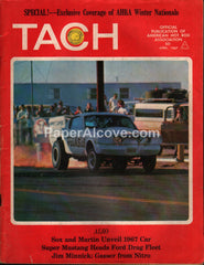 Tach magazine April 1967 vintage hot rods AHRA  drag racing