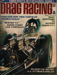 Drag Racing USA magazine August 1970 vintage funny cars hot rods