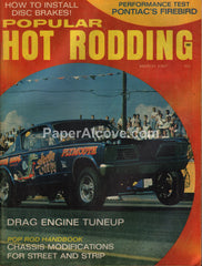 Popular Hot Rodding magazine March 1967 vintage cars