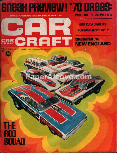 Car Craft magazine February 1970 vintage cars