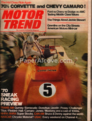 Motor Trend magazine March 1970 vintage cars