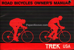 Trek Road Bicycles Owner's Manual booklet