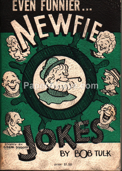 Even Funnier Newfie Jokes vintage 1974 dirty joke book Bob Tulk Derm Duggan Newfoundland Canada