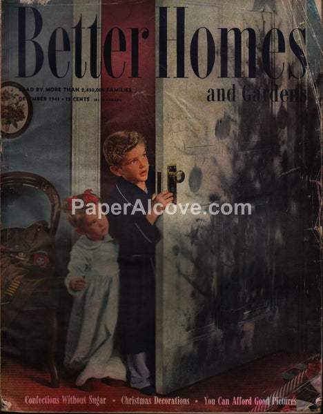 Better Homes and Gardens vintage magazine December 1945