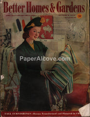 Better Homes and Gardens vintage magazine October 1940
