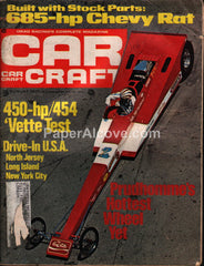Car Craft August 1971 drag racing vintage magazine 685HP Chevy Rat 450HP Corvette