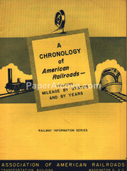 Chronology of American Railroads 1951 booklet Association of American Railroads