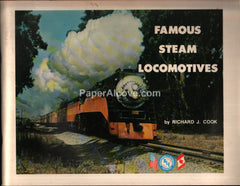 Famous Steam Locomotives 1974 booklet Brotherhood of Locomotive Engineers railroad trains