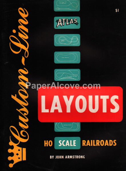 Atlas Custom-Line Layouts for HO Scale Railroads 1957 book John Armstrong toy trains