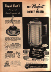 1947 Poulsen & Nardon Inc. Royal Chef Coffee Maker vintage print ad