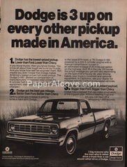 Dodge D-100 Adventurer Pickup Truck 1976 vintage original old magazine ad