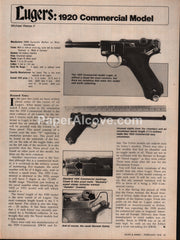 1920 Luger Commercial Model gun 1976 vintage original old article