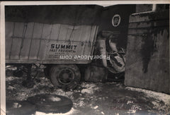 Pennsylvania Railroad Train & Truck accident photograph 1950s? vintage Uhrichsville Ohio