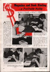 Magazine and book Binding - A Profitable Hobby 1942 vintage original old article