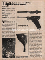 1922 Luger Abercrombie & Fitch Commercial Import gun 1976 vintage original old article