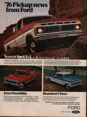 Ford F-150 SuperCab Pickup Truck 1975 1976 vintage original old magazine ad