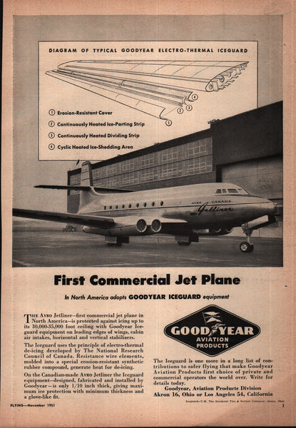 1951 Good Year Aviation Products Akron OH vintage print ad