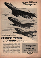 1951 Westinghouse Aviation U.S. Navy vintage print ad