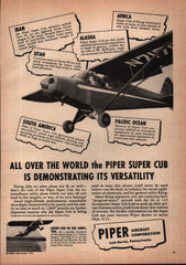 1951 Piper Aircraft Corp Lock Haven PA vintage print ad