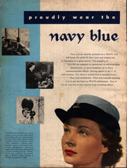 1951 U.S. Navy WAVEs Women's Navel Reserve vintage print ad