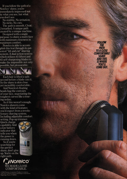 1988 Norelco Shavers vintage print ad