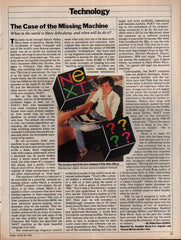 1988 Steve Jobs Next Co vintage original old article
