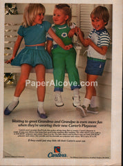 Carter's Playwear kids clothes William Carter Co. 1983 vintage print ad