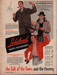1954 Lakeland Sportswear Temperature-Tailored Jackets vintage print ad