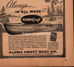 Aluma Craft Boat Co. Milwaukee WI 1957 vintage print ad