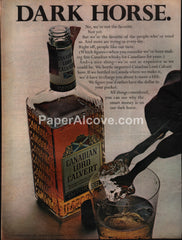 Canadian Lord Calvert Whisky 1966 vintage print ad