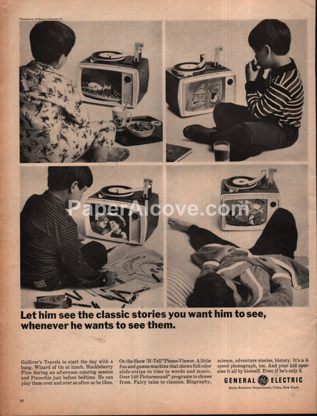 General Electric GE Show-N-Tell Phono-Viewer toy 1966 vintage print ad