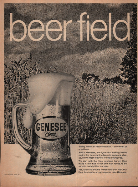 Genesee Beer Field Brewing Rochester NY 1970 vintage print ad