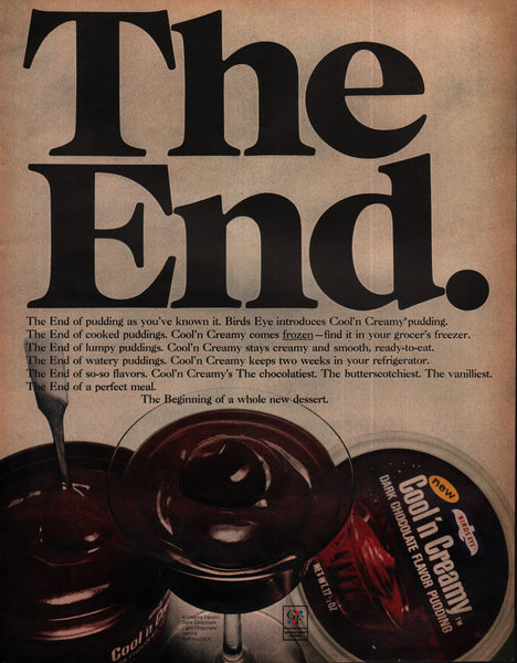 1970 Birds Eye Cool'n Creamy Pudding Dessert General Foods vintage print ad