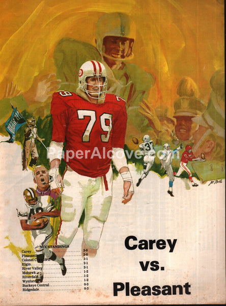 Carey vs. Pleasant Ohio High School Football 1976 Program