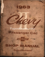 Chevy II Shop Manual Supplement 1963 ST-14 Chevrolet Passanger Car