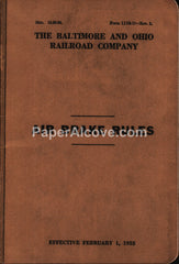 Baltimore and Ohio B&O Railroad Air Brake Rules 1953 vintage book