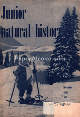 Junior Natural History December 1955 old vintage magazine skiing cover