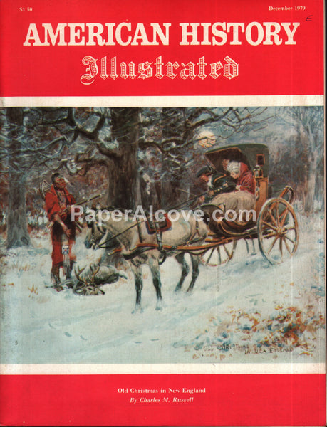 American History Illustrated magazine December 1979 Christmas Indian cover