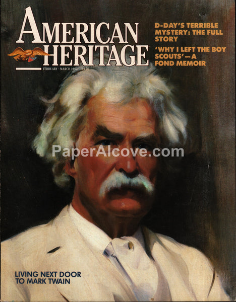 American Heritage magazine February March 1985 Mark Twain