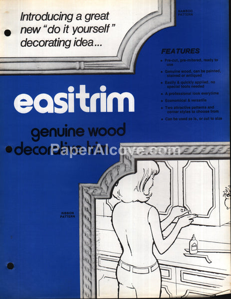 Easitrim wood decorative trim Royal Oak Indus. 1970s brochure