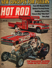 Hot Rod magazine August 1970 vintage cars ford 351 muscle car