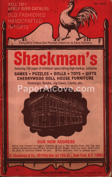 B. Shackman's toy game doll Fall 1971 early bird catalog