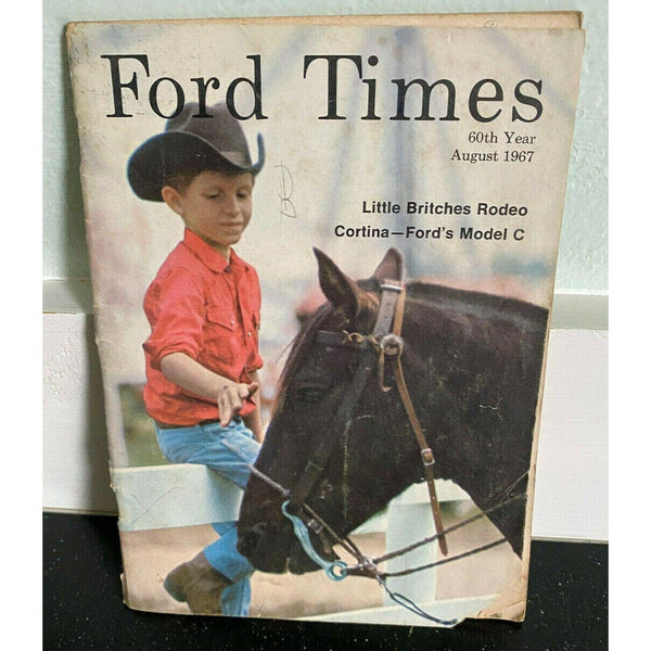 Ford Times August 1967 Cortina Model C Little Britches Rodeo