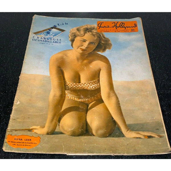 Paris-Hollywood Pin-Up Magazine No 90 1940s Rare Raymond Brenot Centerfold