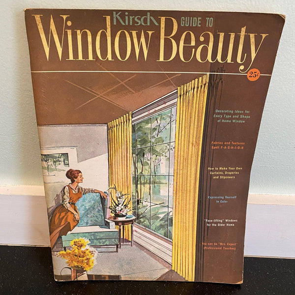 Vintage Kirsch Guide to Window Beauty Mid Century Modern Home Decor Book MCM