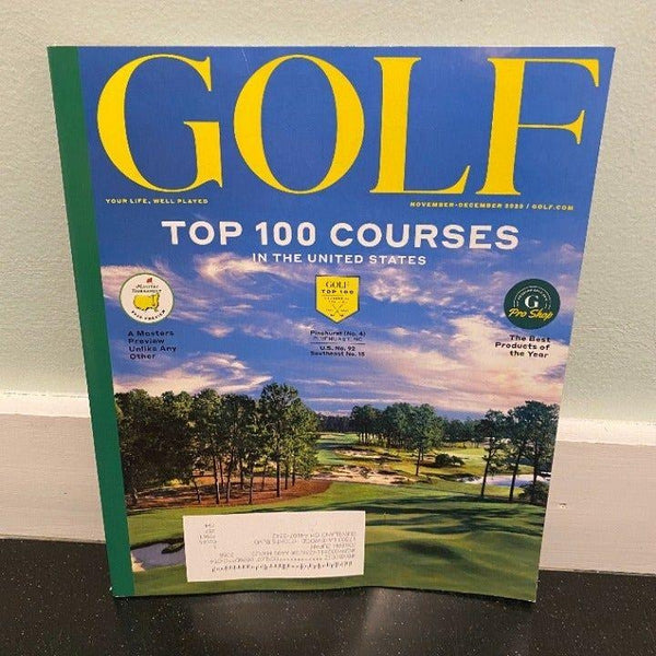 Golf November December 2020 magazine Top 100 US Courses Masters Preview