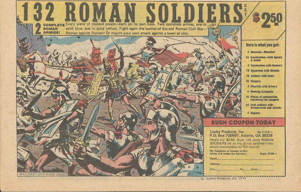 1979 Lucky Products 132 Roman Soldiers Toys vintage print ad